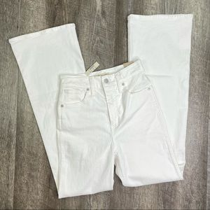 Madewell White High Rise Flare Size 25